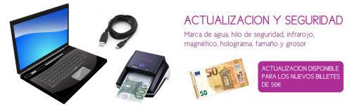 Batería detector de billetes