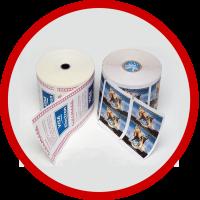 Rollos de papel impreso